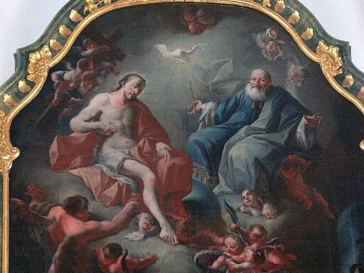 Strobl Kirche - Hochaltar 4 Altarbild