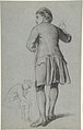 Study of a standing man knocking; sketch of a sitting man MET DP805714.jpg