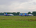 "Su-27 & Su-27UB Aerobatic team ""Russian Knights"" (4256990591).jpg"