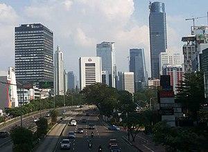 Golden Triangle of Jakarta - Sudirman Avenue