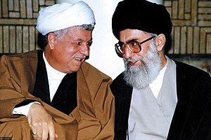 Akbar Hashemi Rafsanjani - Rafsanjani with newly elected Supreme Leader, Ali Khamenei, 1989