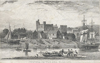Swansea castle and harbour
