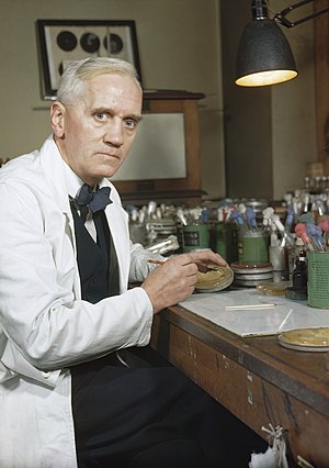 Alexander Fleming - Image: Synthetic Production of Penicillin TR1468