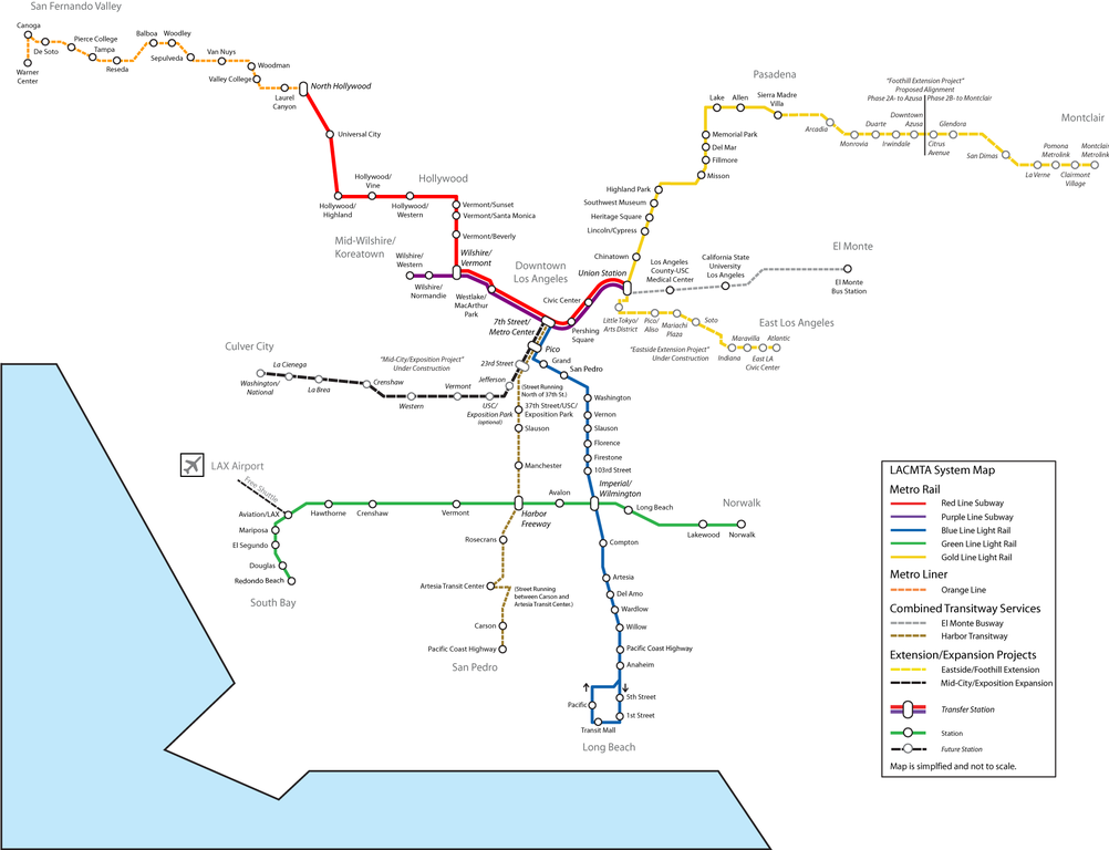 FileSystem Map Future Of The Los Angeles County Metro