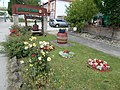 Szalma Restaurant and Pension, garden before the Restaurant, Primate's Island, Esztergom, Hungary.jpg