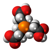 Space-filling model of the TCEP molecule
