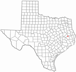 Location of Corrigan, Texas