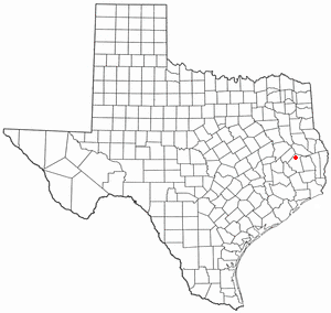 Corrigan, Texas - Image: TX Map doton Corrigan