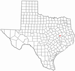 Location of Normangee, Texas