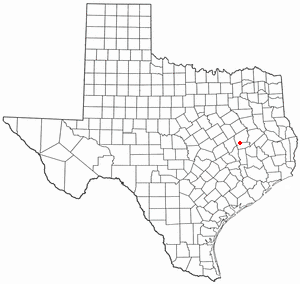 Normangee, Texas - Image: TX Map doton Normangee