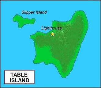 Coco Islands - Image: Table Island map