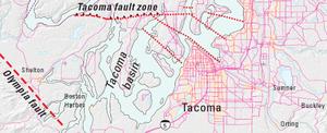 Tacoma Fault - Image: Tacoma fault zone