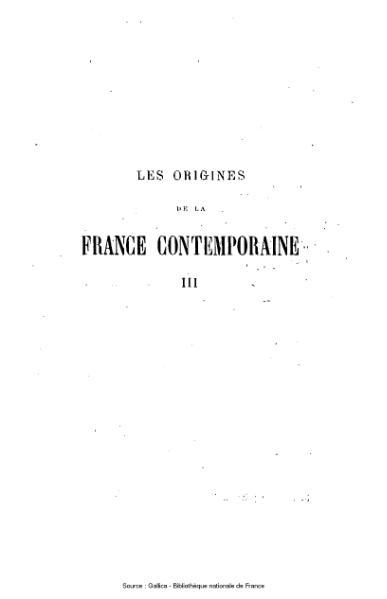 File:Taine - Les Origines de la France contemporaine.djvu