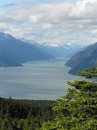 Taiya Inlet - Taiya Inlet from Chilkat Peninsula