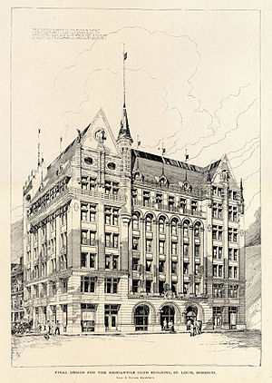 Isaac S. Taylor - Taylor's Mercantile Club Building was one of his major downtown commissions in St. Louis during the 1890s.