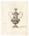 Teckning på urna, 1700 cirka - Skoklosters slott - 99001.tif