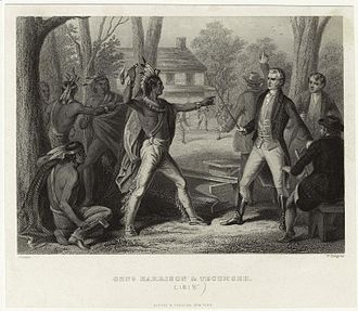 Tecumseh's War - At Vincennes in 1810, Tecumseh loses his temper when William Henry Harrison refuses to rescind the Treaty of Fort Wayne.