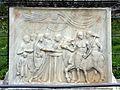 Tempio di vespasiano, ara con scena di sacrificio, età augustea 02.jpg