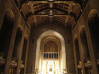Reform Judaism - Interior of Congregation Emanu-El of New York, the largest Reform synagogue in the world.