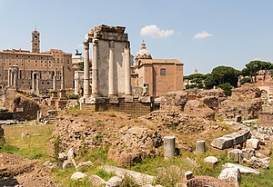 Temple of Vesta - The most prominent feature of the ruins that were once the Temple of Vesta is the hearth.