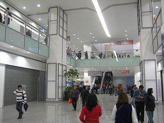 Ecatepec de Morelos - Ciudad Azteca, subway and mexibus station in Central Avenue.