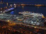 Terminal of Grimaldi Lines at night - Barcelona 01.JPG