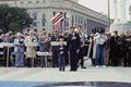 The 1987 dedication of the Navy Memorial on Pennsylvania Avenue in Washington, D.C LCCN2011632663.tif