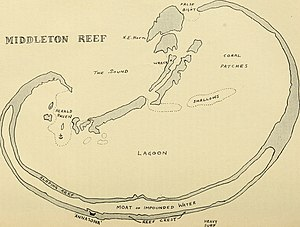 Middleton Reef - 1934 map of Middleton Reef