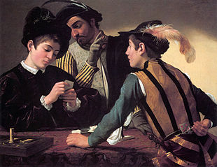 Caravaggio, I bari, olio su tela, 1594 (Fort Worth, Kimbell Art Museum).
