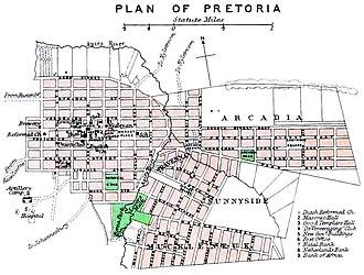 Timeline of Pretoria - city plan, 1895