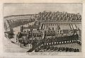 The Charterhouse, London; an aerial view. Engraving by W. H. Wellcome V0013036.jpg