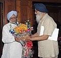The Chief Minister of Punjab, Shri Prakash Singh Badal calls on the Prime Minister, Dr. Manmohan Singh, in New Delhi on April 15, 2013.jpg