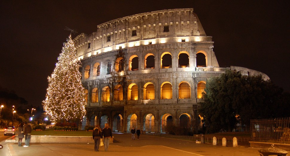 The Colosseum during Christmas