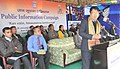 The Deputy Commissioner, Serchhip district, Dr. Lalrozama addressing the gathering at the Public Information Campaign, organised by the PIB, Aizawl, at Kawlailung, in Serchhip district.jpg
