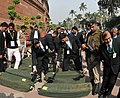 The General Budget 2015-16 documents brought in the Parliament House premises under security, in New Delhi on February 28, 2015 (1).jpg
