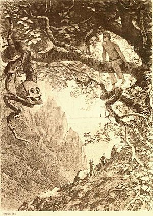 """The Gold-Bug - Illustration by """"Herpin Inv"""" for an early edition"""