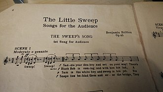 The Little Sweep - First page of the booklet.