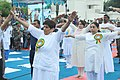 The Lt. Governor of Puducherry, Ms. Kiran Bedi performing Yoga along with other participants, on the occasion of the 2nd International Day of Yoga – 2016, at Beach Road, Puducherry on June 21, 2016 (1).jpg