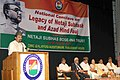 The Minister of State for Culture (Independent Charge), Tourism (Independent Charge) and Civil Aviation, Dr. Mahesh Sharma addressing at the National Conclave on Legacy of Netaji Subhash and Azad Hind Fauj.jpg