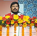 The Minister of State for Social Justice & Empowerment, Shri Ramdas Athawale addressing at the inauguration of the new office premises of the National Handicapped Finance and Development Corporation (NHFDC), in New Delhi.jpg