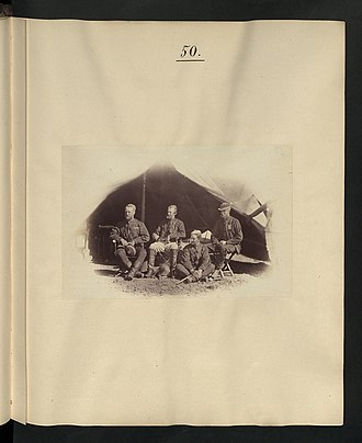 Charles Staveley - Sir C. Staveley and staff during the British Expedition to Abyssinia