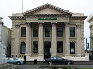 Lloyds Bank International - A branch of the National Bank of New Zealand in Lloyds' green livery.