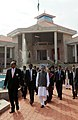 The Prime Minister, Dr. Manmohan Singh visits after inaugurating the High Court Complex, at Kangla Fort, in Imphal, Manipur on December 03, 2011. The Chairperson, National Advisory Council, Smt. Sonia Gandhi is also seen.jpg