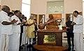 The Prime Minister, Shri Narendra Modi unveiling the statue of Dr. A.P.J. Abdul Kalam, at Pei Karumbu, Rameswaram, in Tamil Nadu (1).jpg