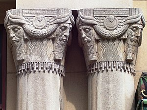 Pythian Temple (New York City) - Column capitals