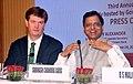 The Secretary, Department of Economic Affairs, Mo Finance, Shri Subhash Chandra Garg and the Vice President & Corporate Secretary, Asia Infrastructure Investment Bank.JPG