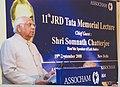The Speaker, Lok Sabha, Shri Somnath Chatterjee delivering the 11th JRD Tata Memorial Lecture organised by ASSOCHAM, in New Delhi on September 19, 2008.jpg