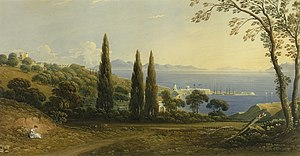 John Varley (painter) - The Straits of Gibraltar