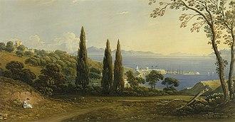 John Varley (painter) - The Straits of Gibraltar