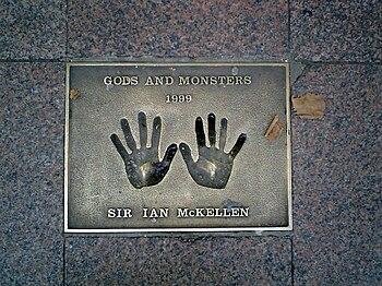 The hands of Sir Ian McKellen